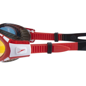 speedo Futura Biofuse Flexiseal Mirror Svømmebriller Børn rød/sort